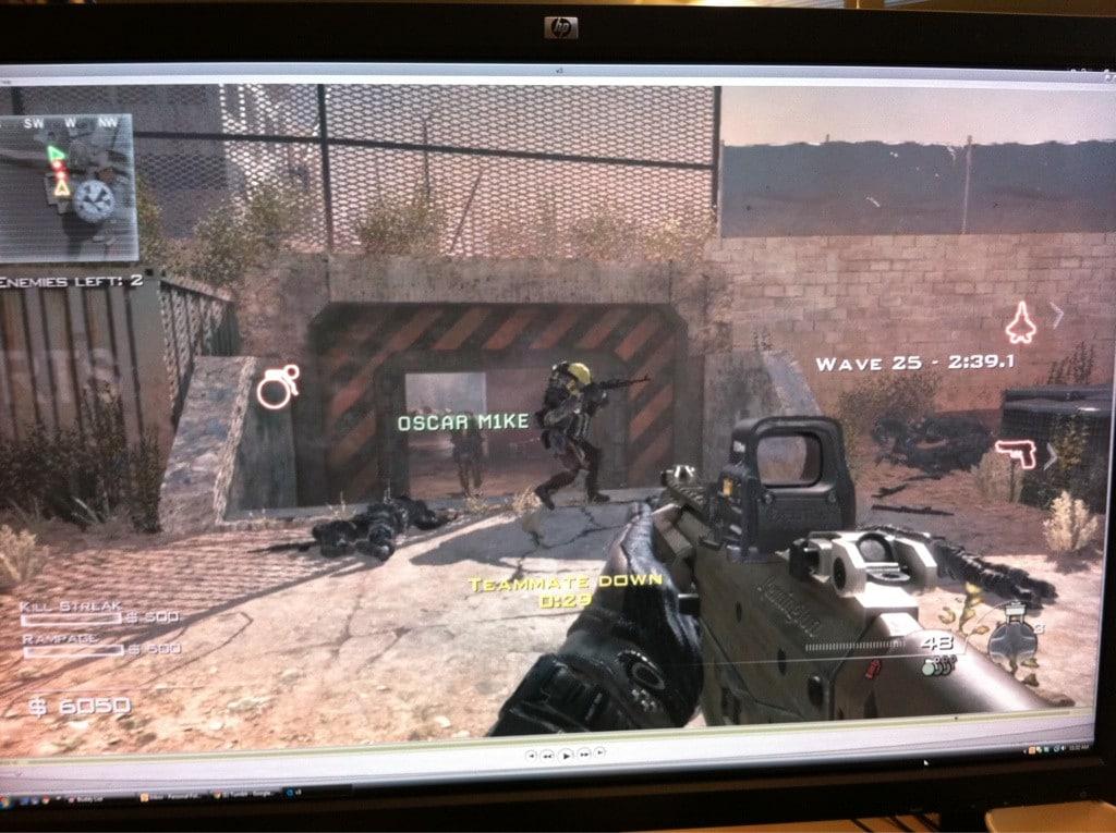 First screenshot of the Spec-Ops mode from Modern Warfare 3