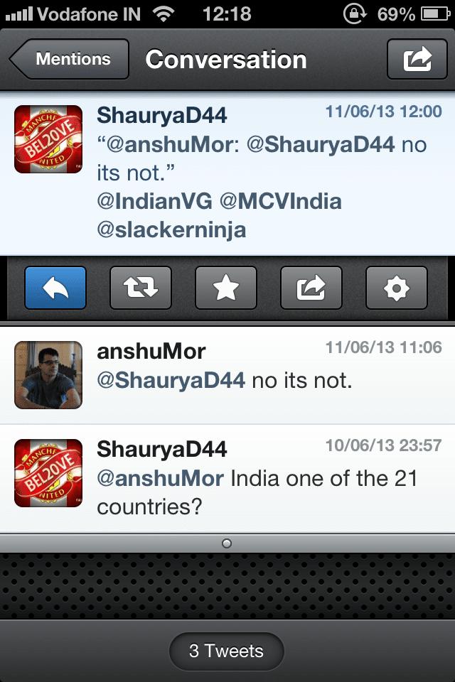 No Xbone for India