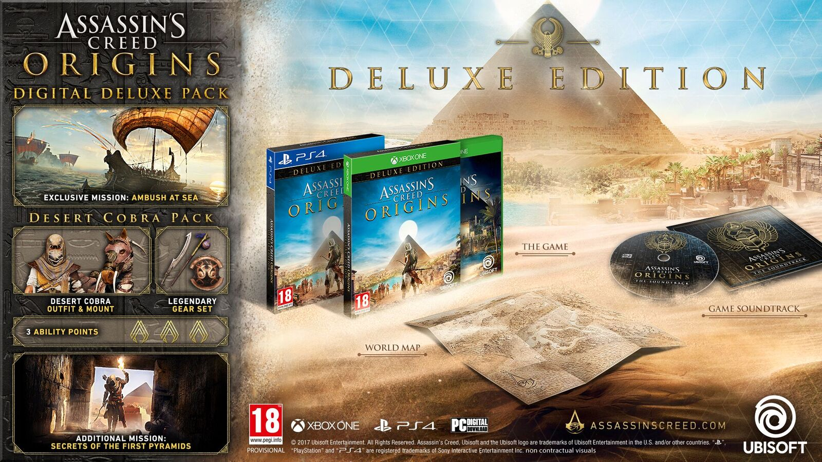 Assassin's Creed: Origins Physical Digital Deluxe Edition