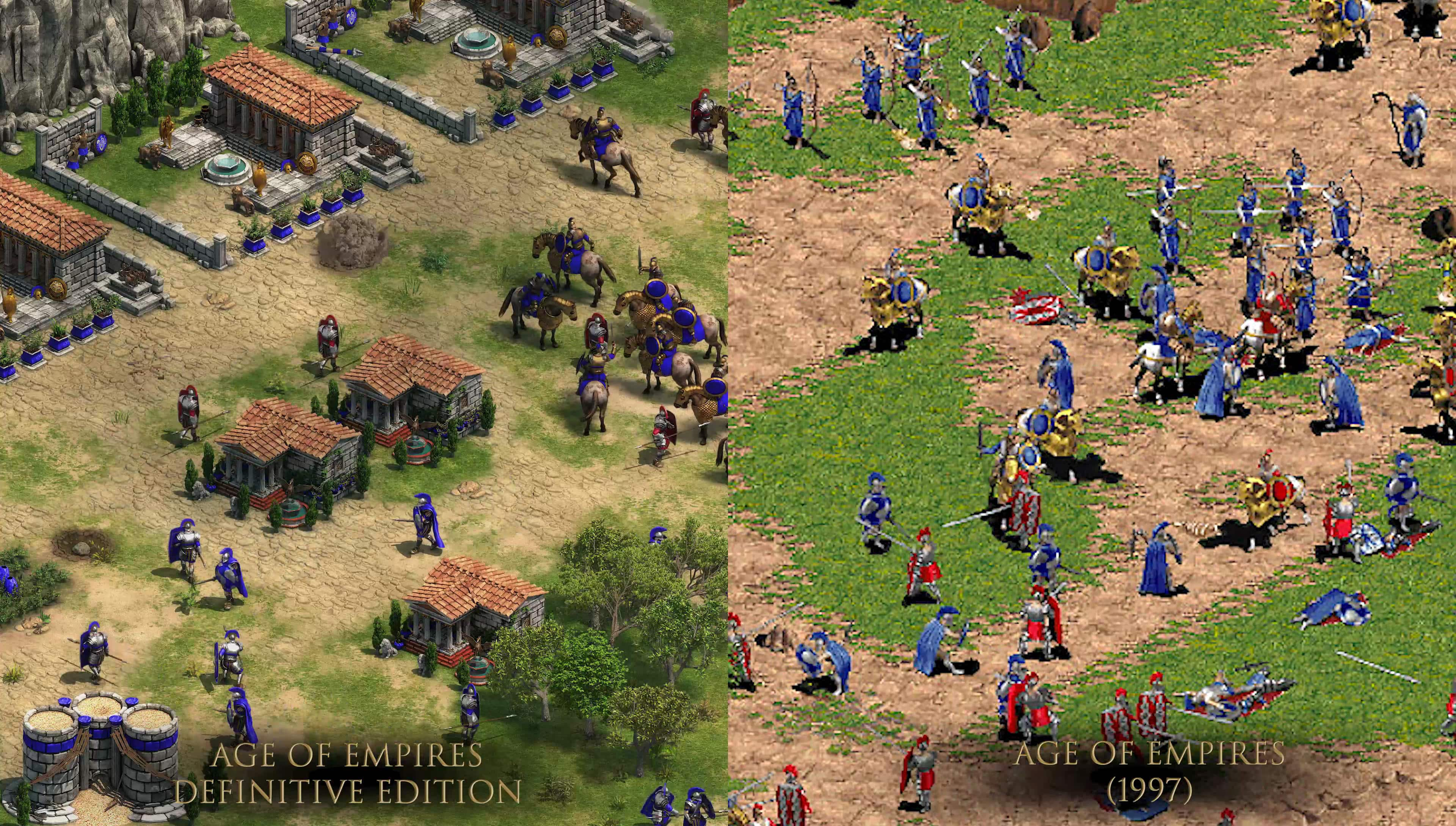 Age of Empires: Definitive Edition comparison shot vis original