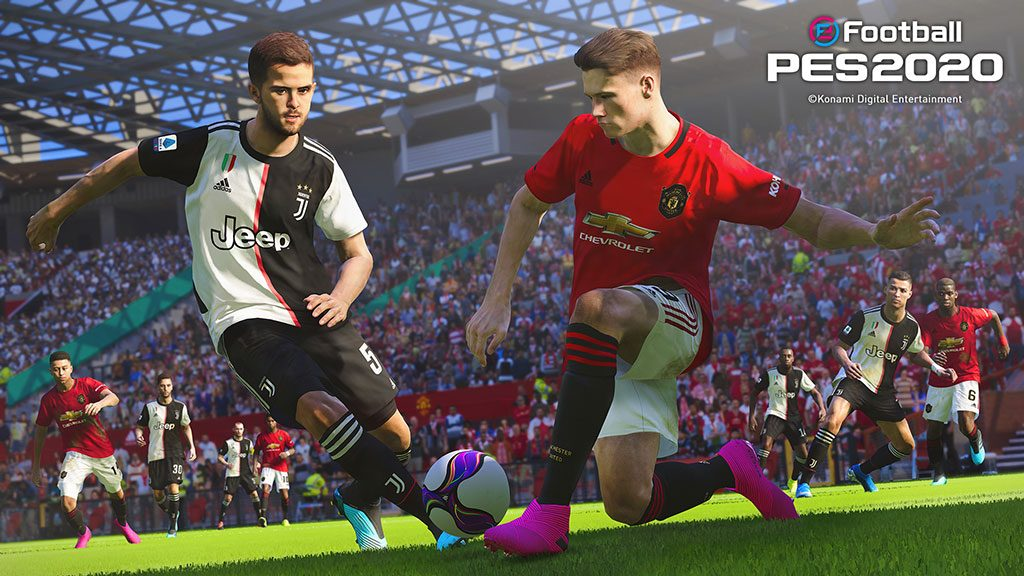 PES 2020 has secured official licenses for Juventus and Manchester United