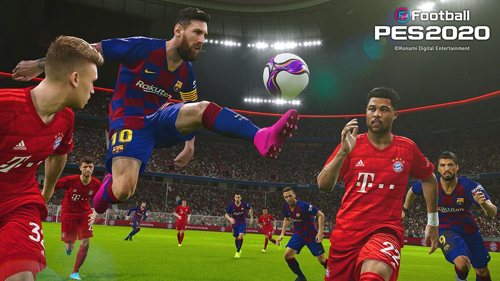 PES 2020 boasts improved player animations and ball physics