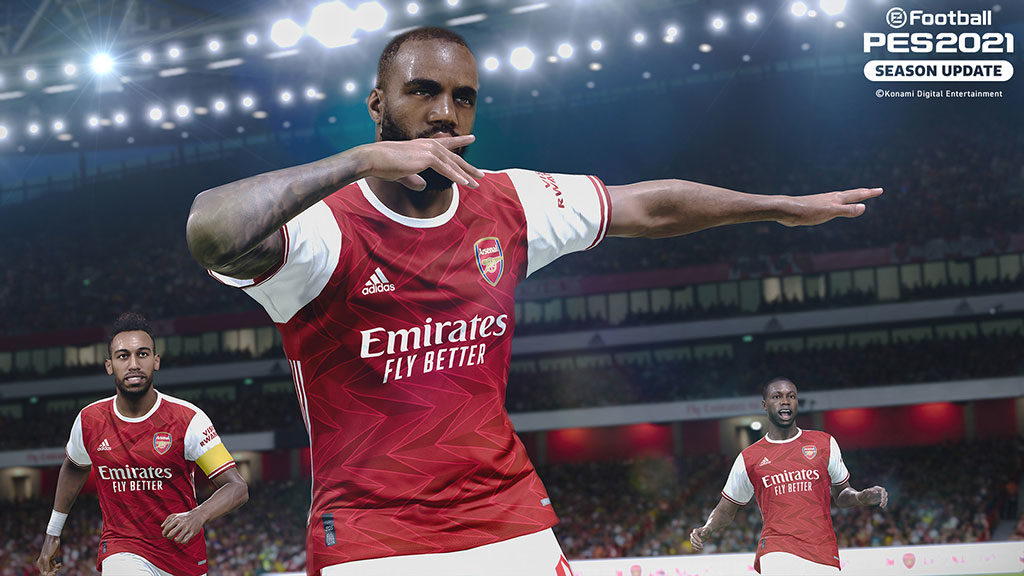 Arsenal in PES 2021 Season Update